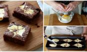 Prepara un original brownie marmolado estilo cheesecake