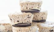 Suaves e irresistibles mini cheesecakes de oreo