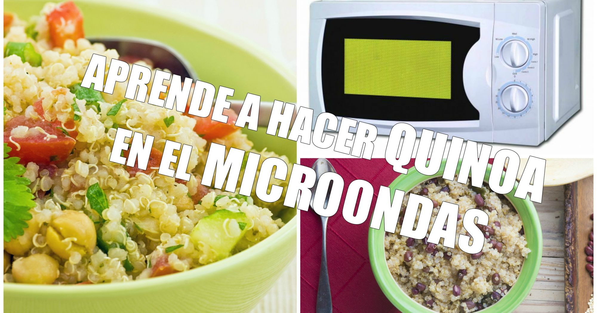 C mo cocinar quinoa en el microondas for Cocinar en microondas
