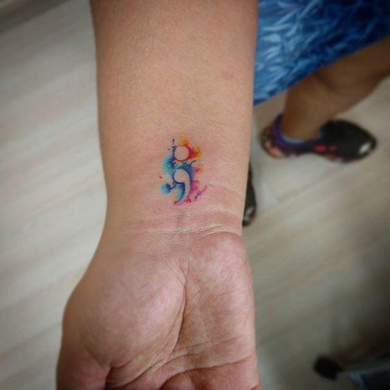 Descubre El Verdadero Significado Del Tatuaje De Punto Y Coma