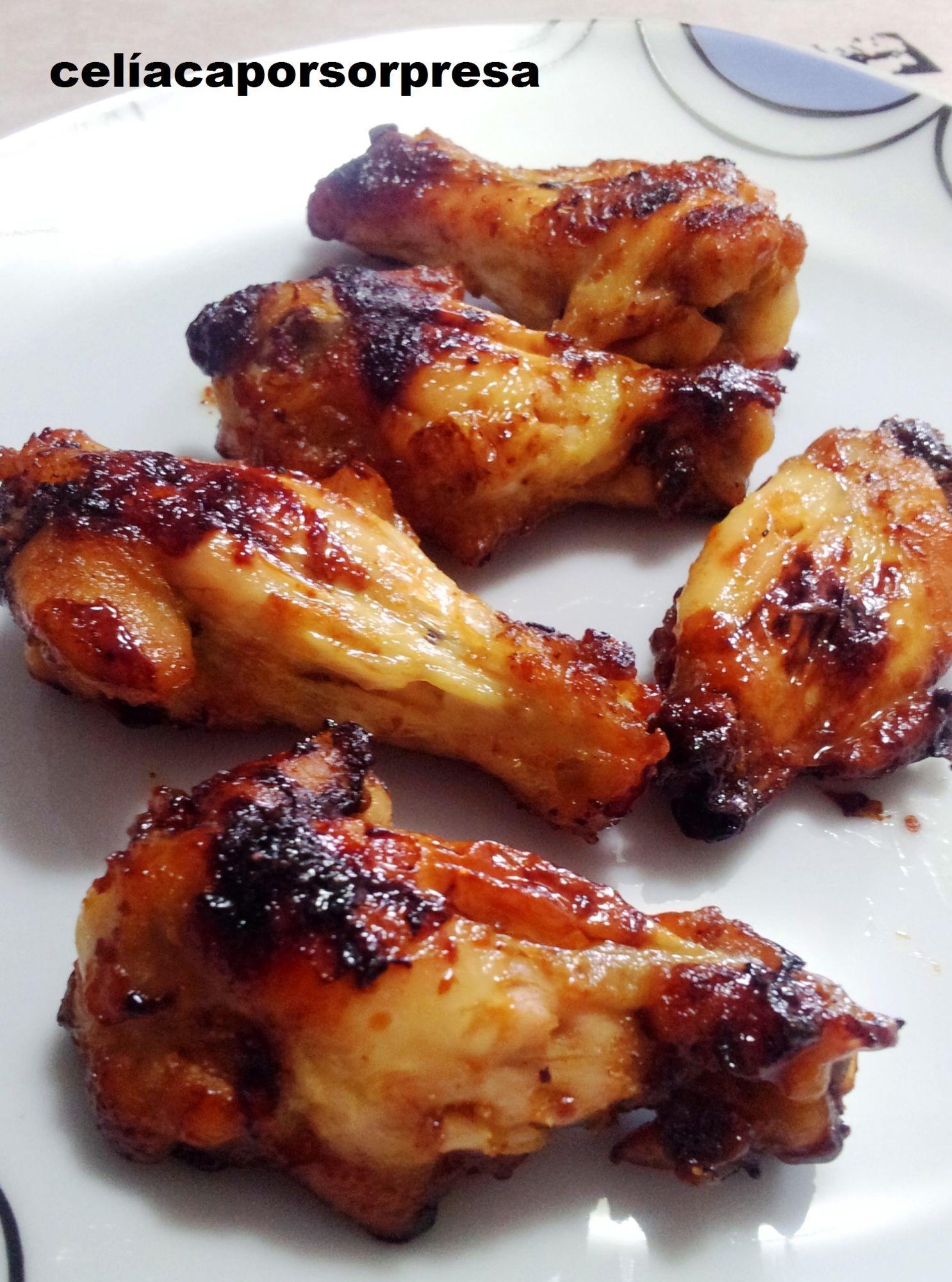 Alitas de pollo con miel y mostaza al horno 4 1 5 - Adobo de alitas de pollo ...