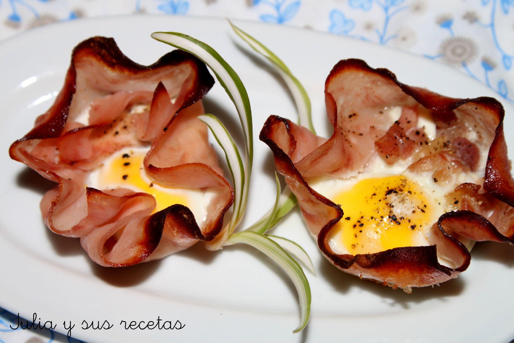 Flores De Jamón Y Huevos De