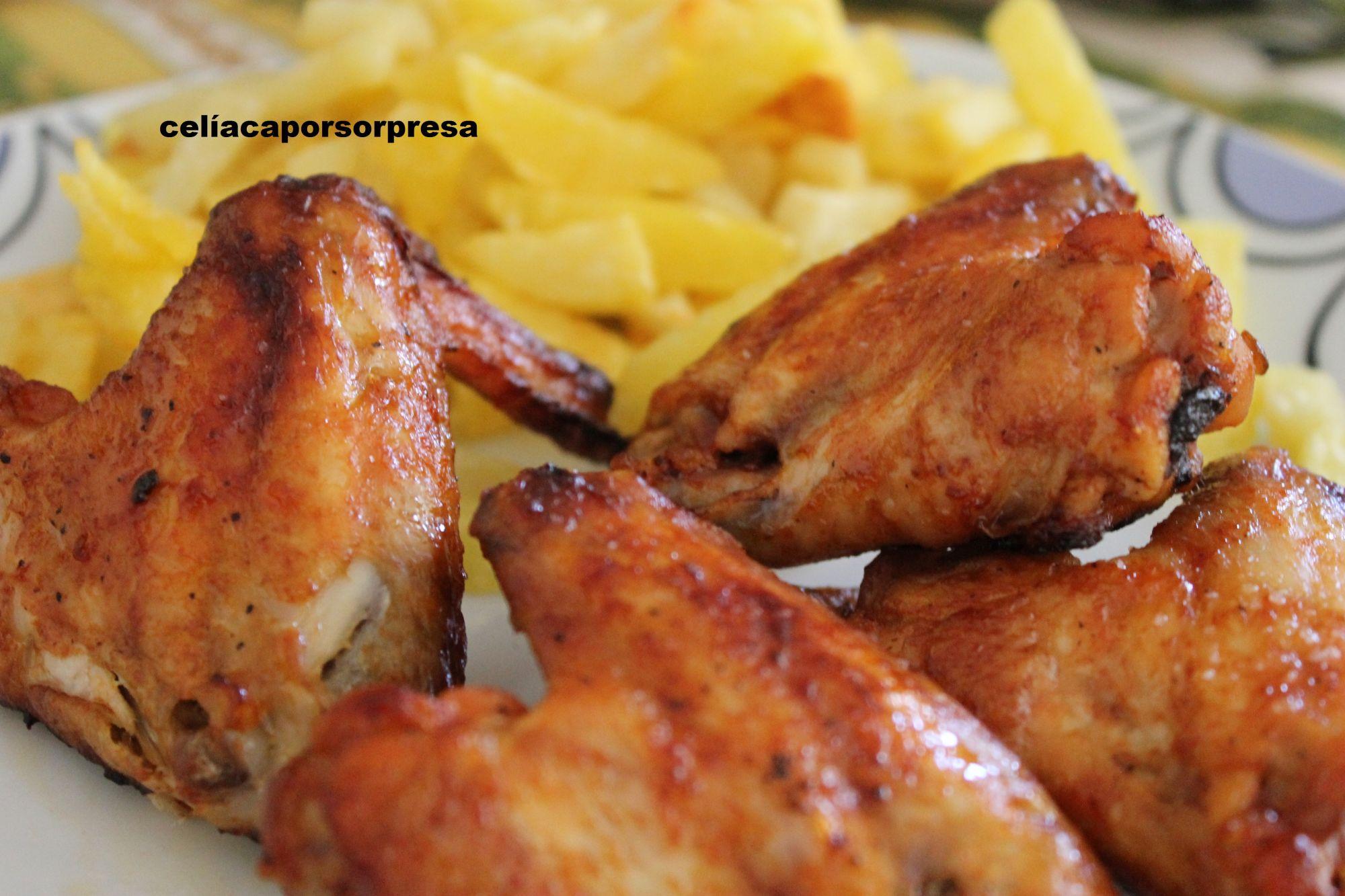 Alitas de pollo con salsa barbacoa al horno 4 4 5 - Barbacoa con horno ...