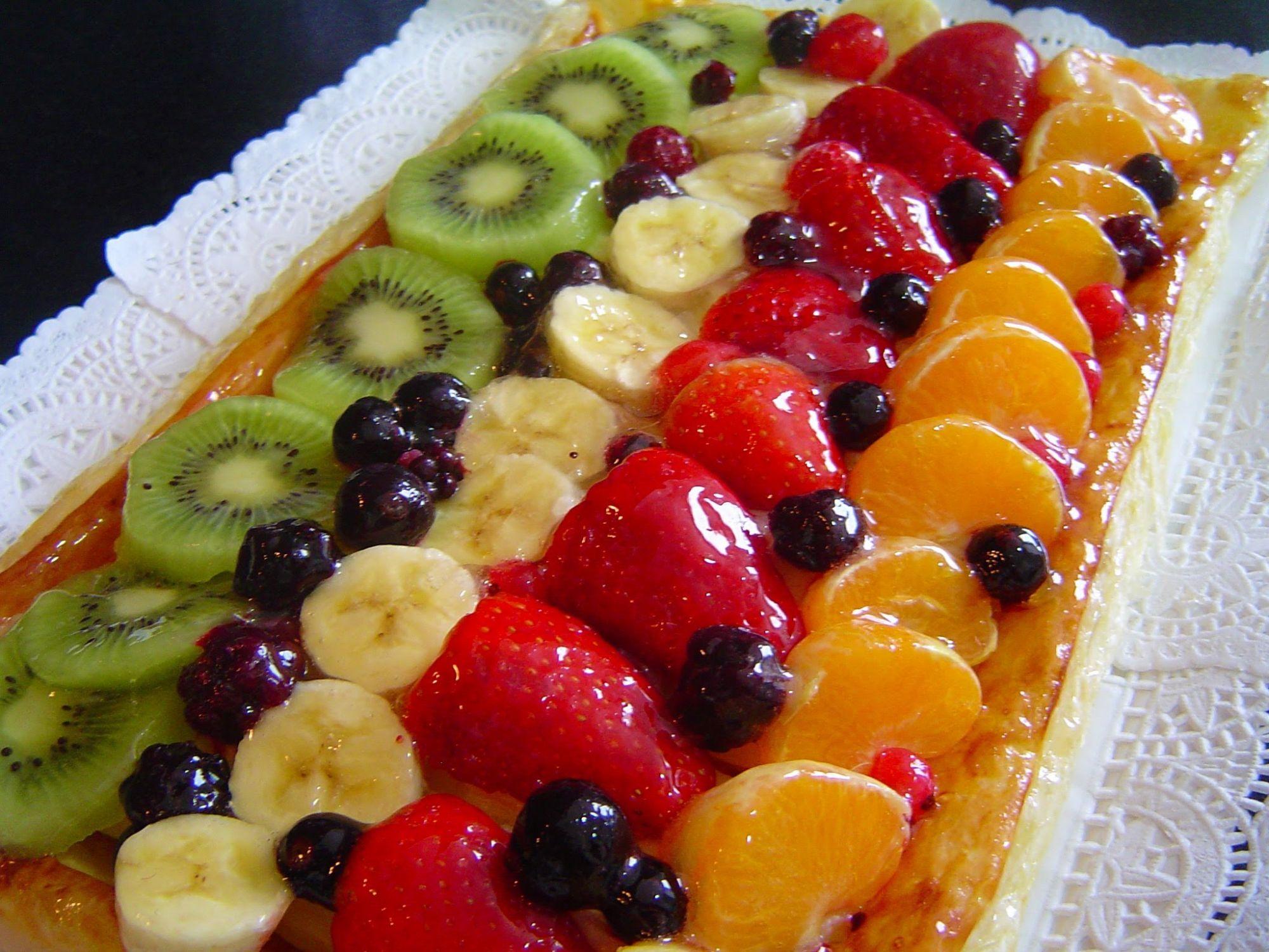 Tarta de hojaldre con frutas 4 1 5 - Postres con frutas faciles ...
