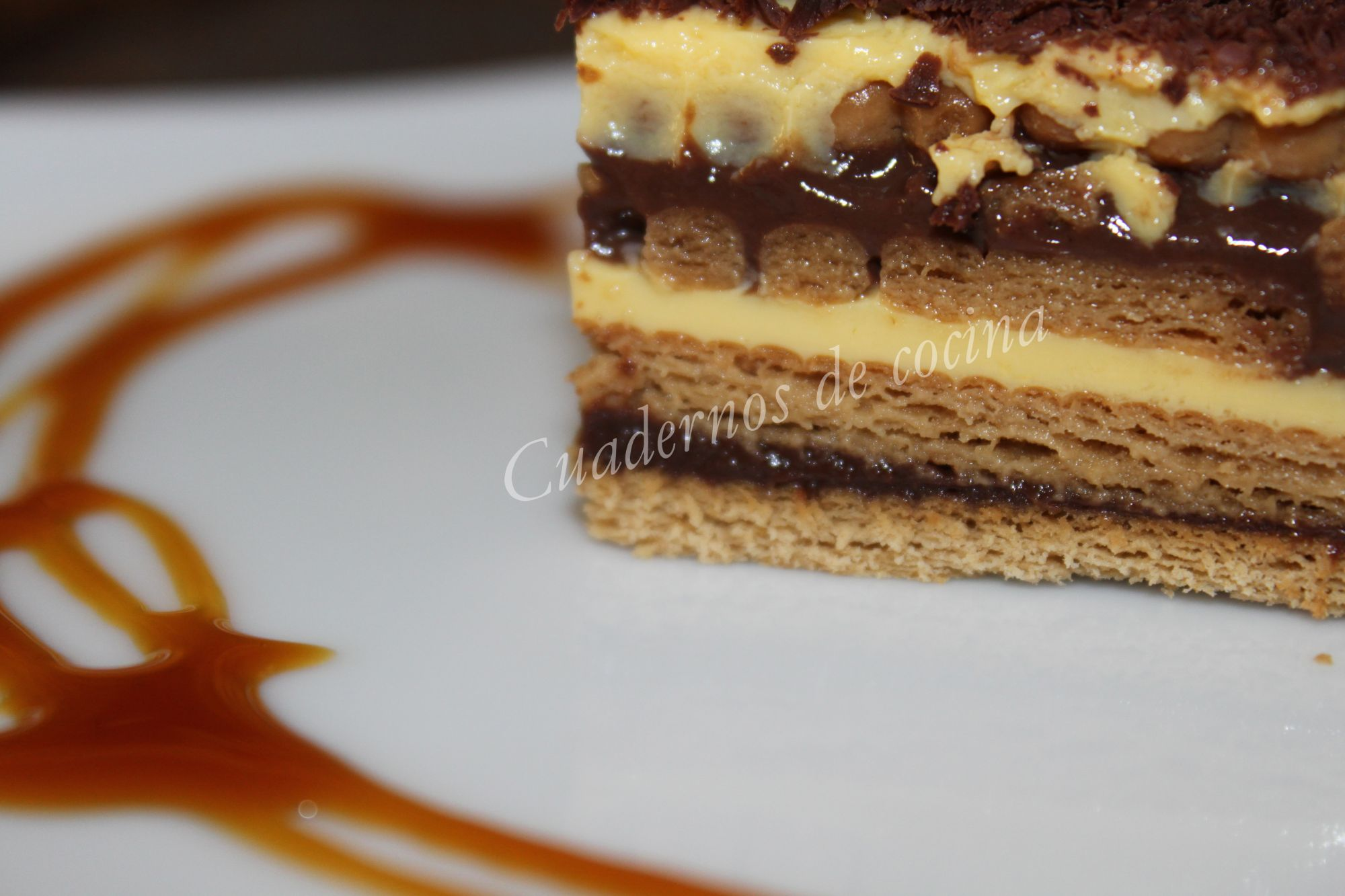Tarta cl sica de galletas y chocolate 4 3 5 - Recetas nestle postres chocolate para fundir ...