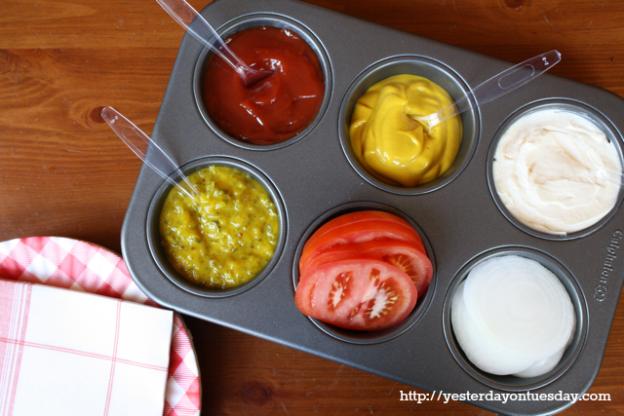 Bandeja de salsas