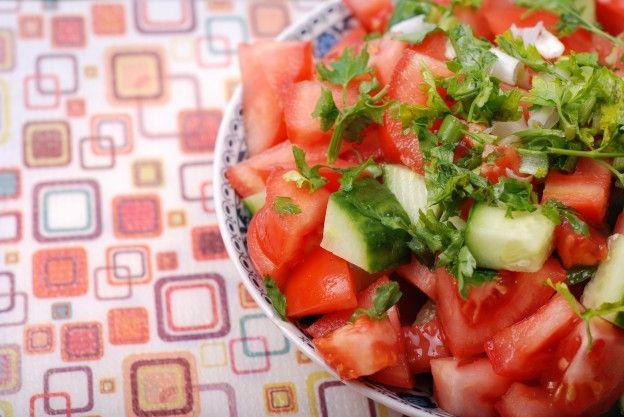 Ensalada de tomates y pepino