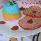 Arroz blanco a color