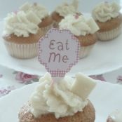 Cupcakes de yogur y chocolate blanco