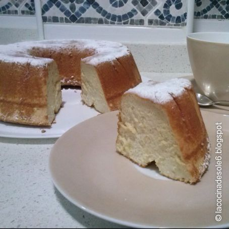 Angel food cake con Thermomix (Pastel de ángel)