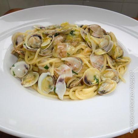 Gambas y chirlas con espaguetis 3 5 - Espagueti con gambas y nata ...