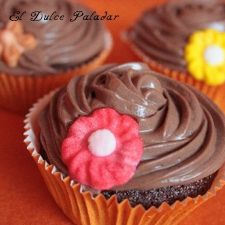 Cupcakes de chocolate y cheese cream de Nutella.