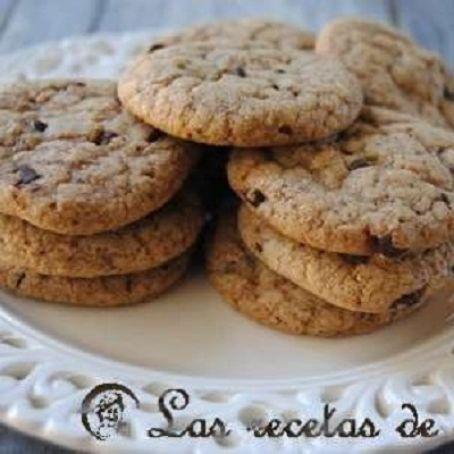 Receta de las galletas con pepitas de chocolate