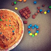 Tarta cookie con M&Ms