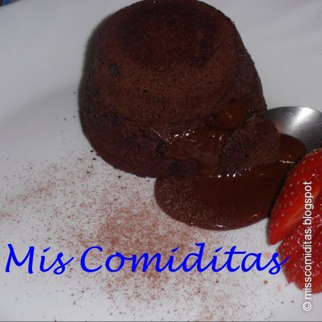 Coulant de chocolate rápido