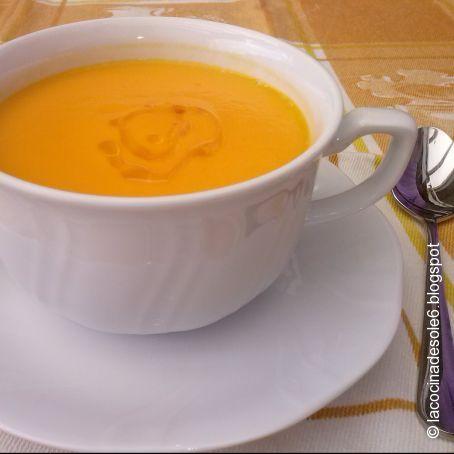 crema de zanahoria a base de agua