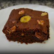 Brownie con nueces y plátano