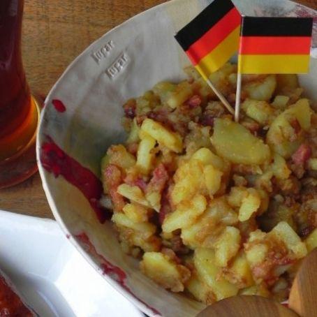 Kartoffelsalat ensalada alemana de patata y bacon 4 5 - Ensalada alemana de patatas ...