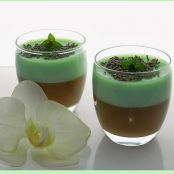 Panna cotta de chocolate y menta