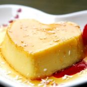 Flan de chocolate blanco