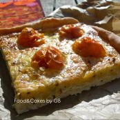 Quiche de tomates, tomillo y doble de queso