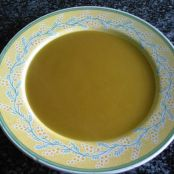 Crema de calabaza y quesitos