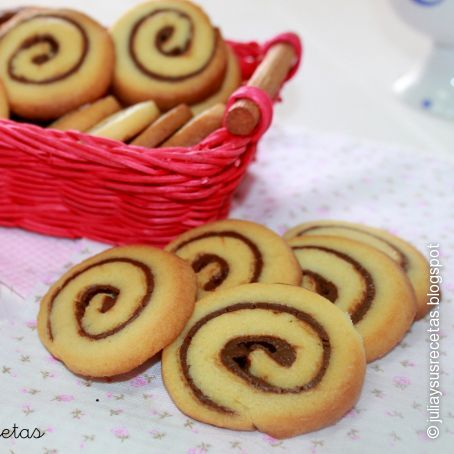Galletas en espiral de Nutella