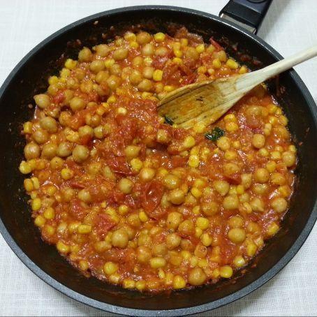 N scalos con tomate y garbanzos 3 5 5 - Preparacion de garbanzos cocidos ...