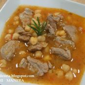 Garbanzos con solomillo en Thermomix