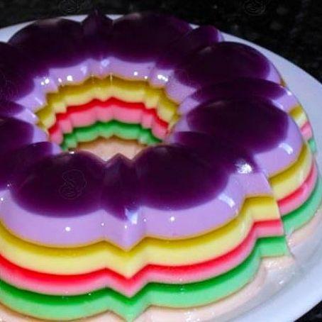 Gelatina de capas de colores