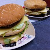 Hamburguesa especial tipo big-mac