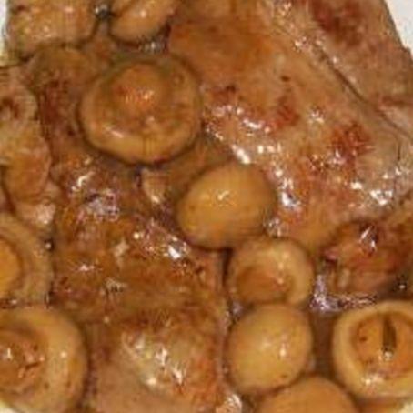 Filetes de ternera en salsa con champi ones f cil - Filetes de ternera en salsa de cebolla ...