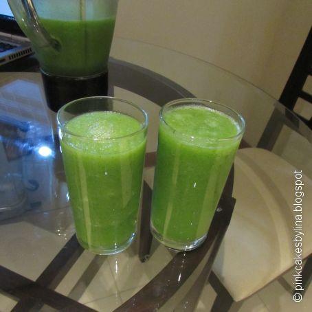 Que ingredientes lleva el jugo verde para adelgazar