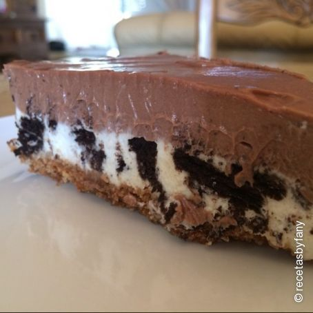 Tarta de queso de Nutella y Oreos - Cheesecake