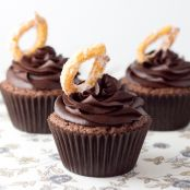 Cupcakes de chocolate con churros