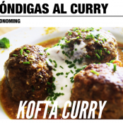 Kofta curry, albóndigas al curry