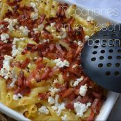 Macarrones con requesón y bacon