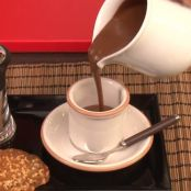 Chocolate caliente con miel