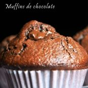 Muffins de chocolate con yogur natural