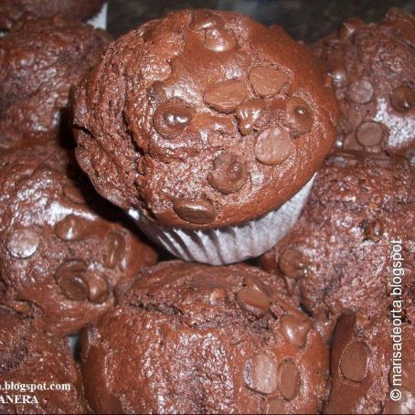 Muffins de chocolate Starbucks