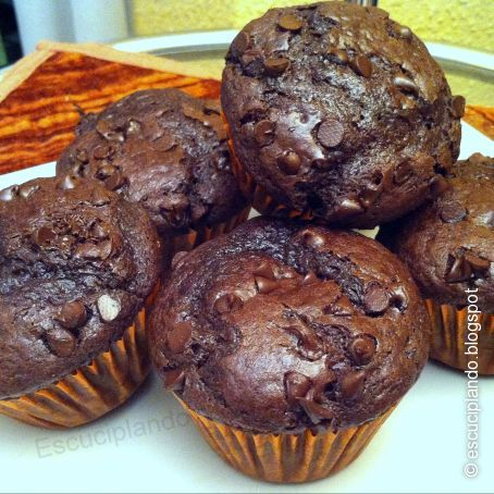 Muffins de chocolate chips con Thermomix