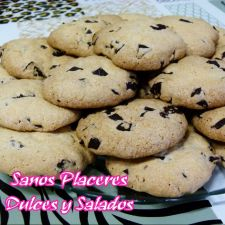 Galletas con chocolate negro