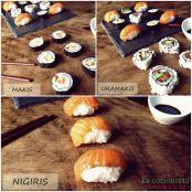 Sushi Makis Uramakis Y Nigiris