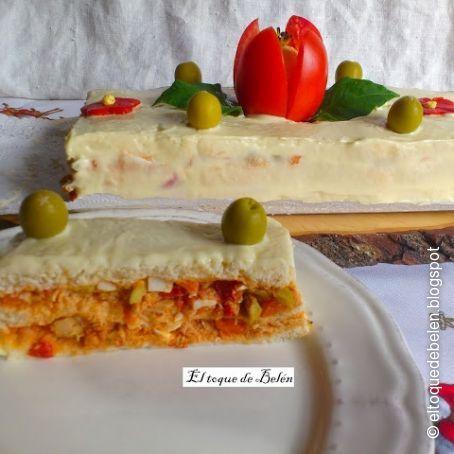 Pastel De Salado De Pan De Molde Sin Corteza