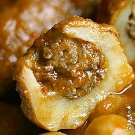 Patatas rellenas de carne picada 2 6 5 - Carnes rellenas al horno ...