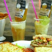 Sandwiches tex mex y margarita coronita