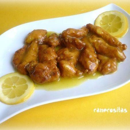 Salsa pollo al limon estilo chino