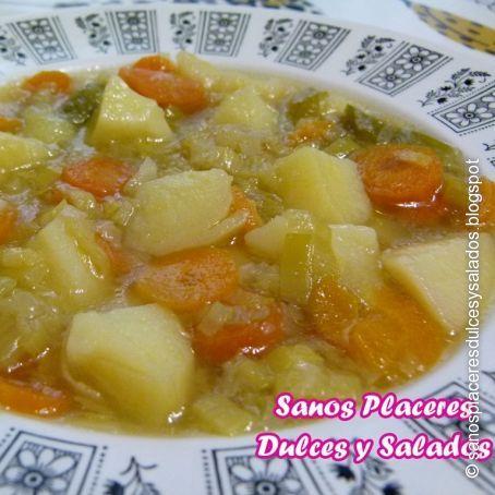 receta puerro zanahoria y patata