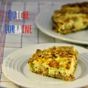 Quiche lorraine (quiche de bacon y queso)