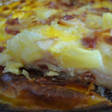 Quiche trópical